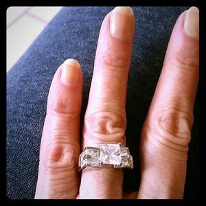 Vtg 925 sterling cz statement ring! Gorgeous